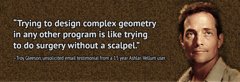 Unsolicited Testimonial from a 15 Year Ashlar-Vellum Products User