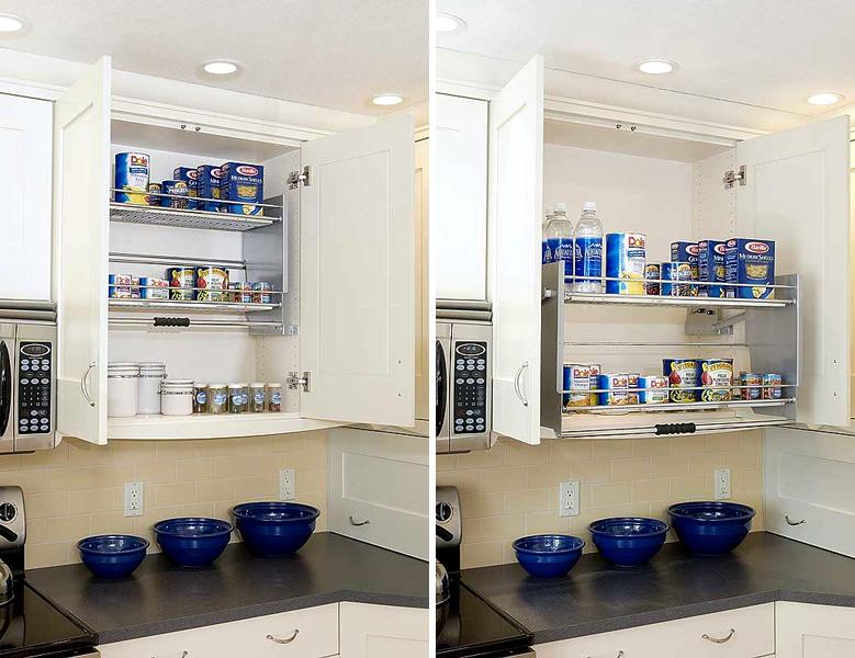 kitchen cabinet pull down shelves monsterlune